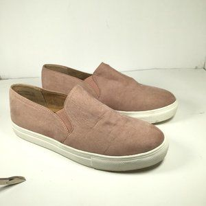 Anna Wagner Suede Slip-On Loafers Pink Size 7.5